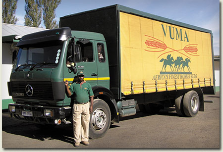 vuma horsefeeds delivery truck