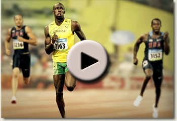 pierre jourdan and usain bolt athletes video