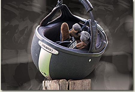 summerhill horseriding helmet and gloves
