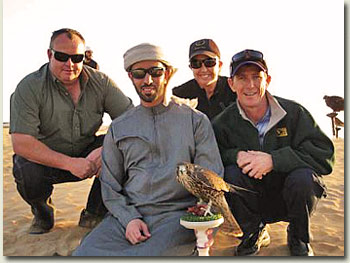 mike de kock, kevin shea and sheikh mohammed