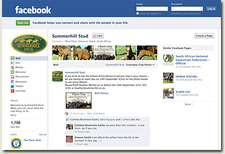 Summerhill Stud Facebook