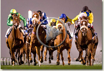 Imbongi winning the Zabeel Mile in Dubai