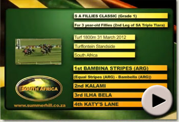 Bambina Stripes wins SA Fillies Classic