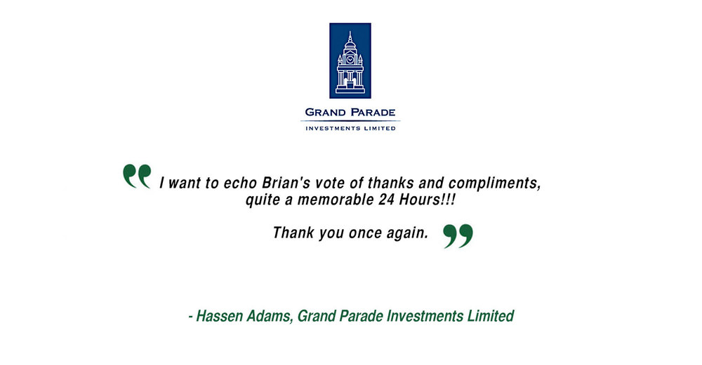 Hassen Adams - Grand Parade Investments