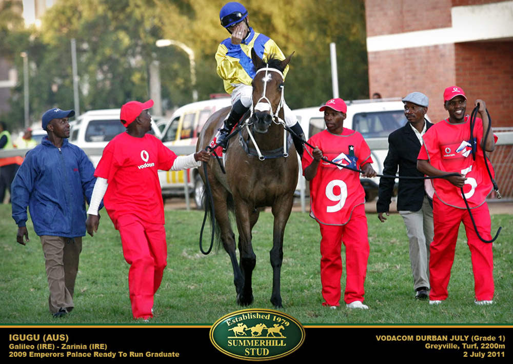 Anthony Delpech aboard Igugu - Vodacom Durban July 2011 / Gold Circle (p)