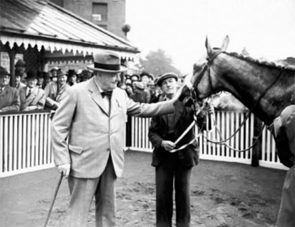 Winston Churchill with Collonist II / Sportsframes (p)