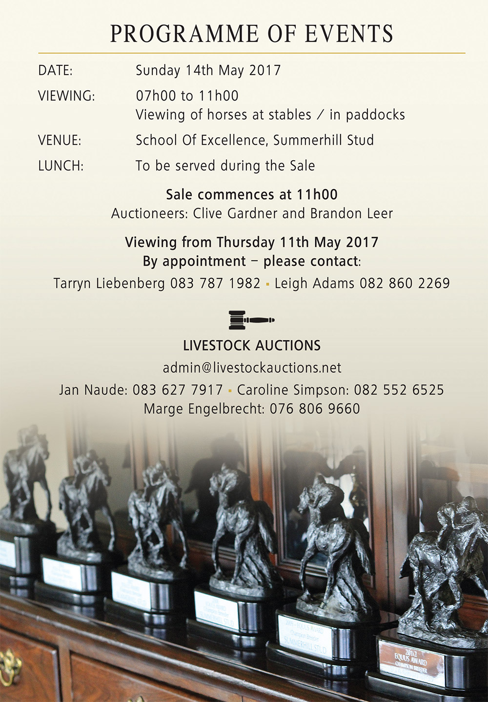 Pop Up Racehorse Auction