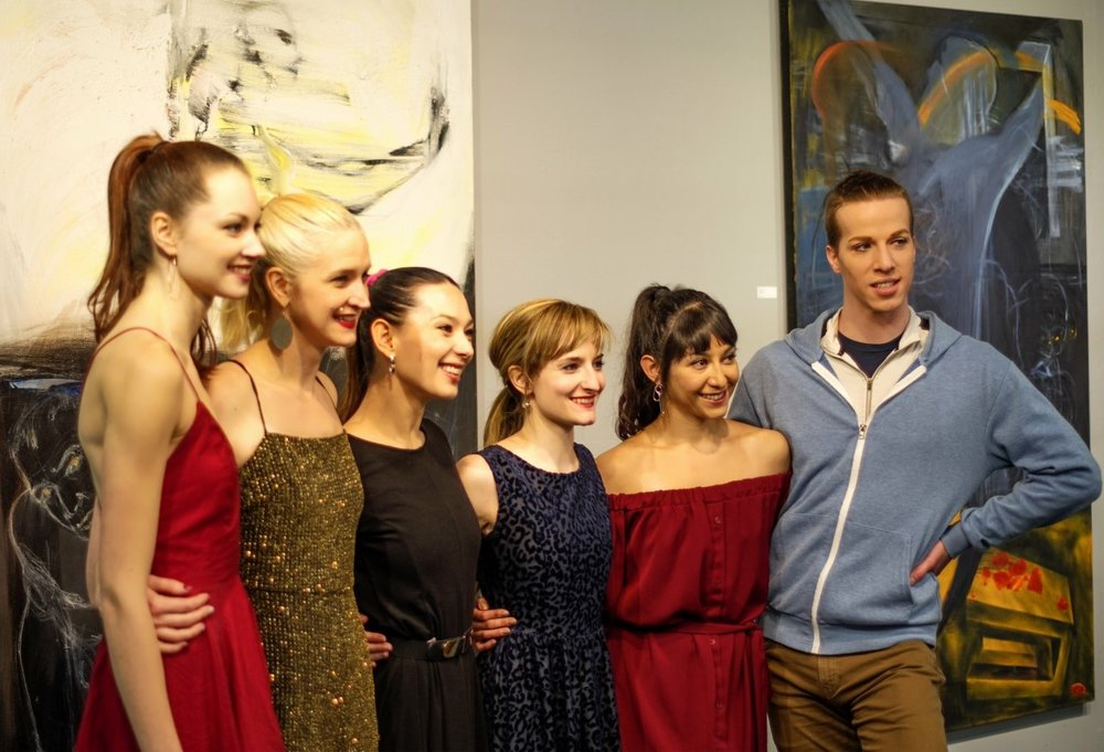 KHDP Company dancers on closing night of #colorMAD January 6th, 2019 at Ryan James Fine Arts Gallery.