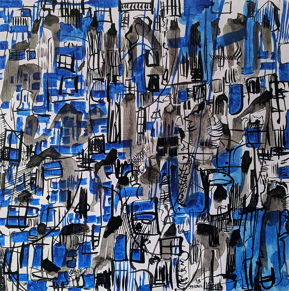 Rain Blue Jazz City