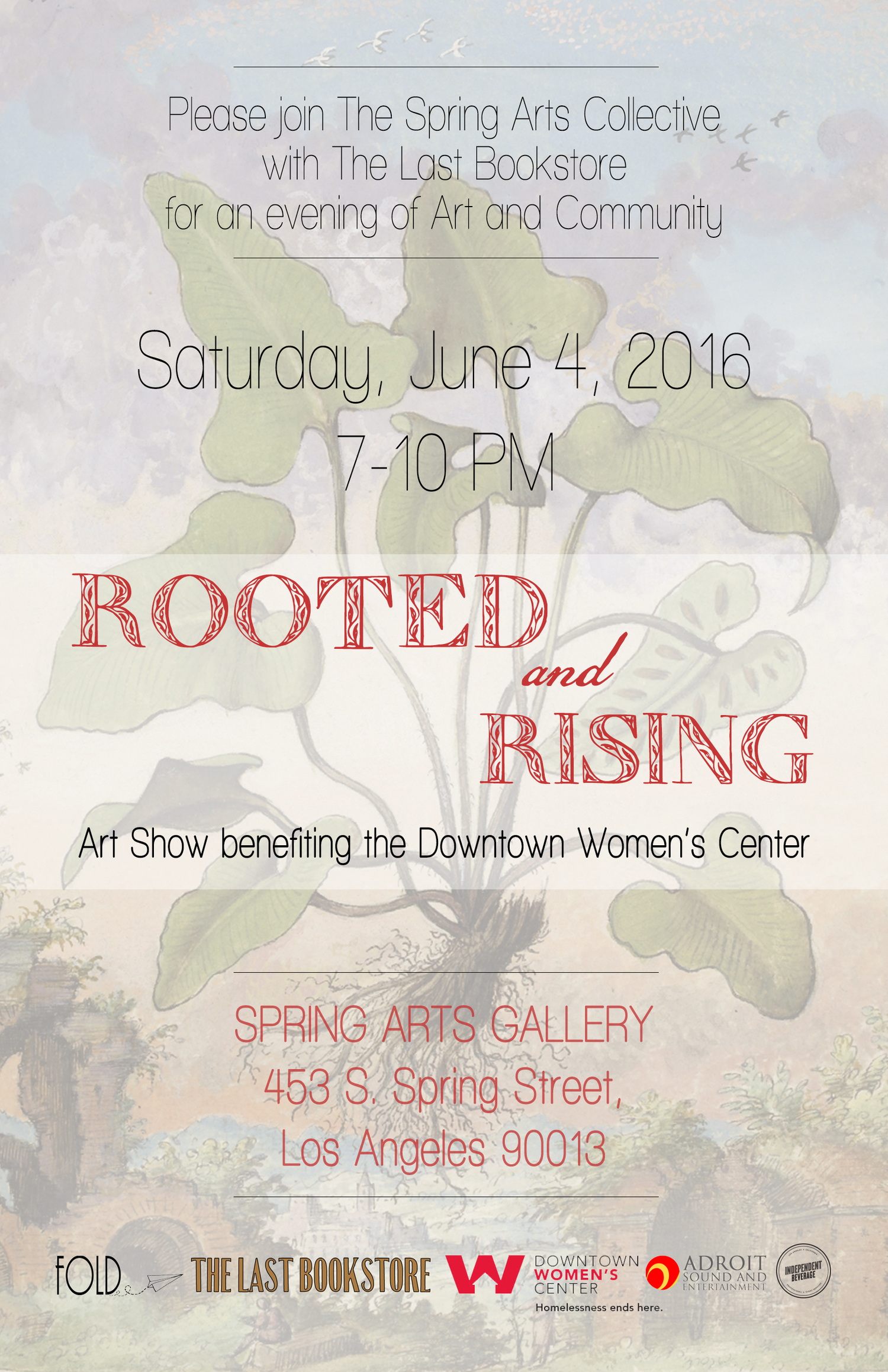 Rooted & Rising - Art Show Benefit for the Downtown Women's Center