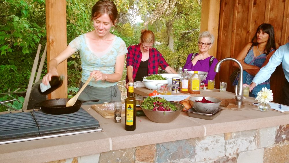 Katrina Doing Chatfield Farm Cooking Demo