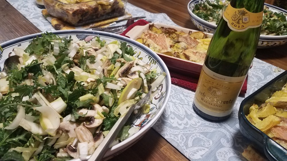 French Winter Alpine Meal. Yum!