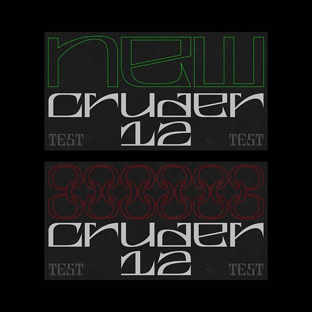 Testing. . . . #cruder #typeface #graphicdesign #typography #typefacedesign #style #sick #raw #crude