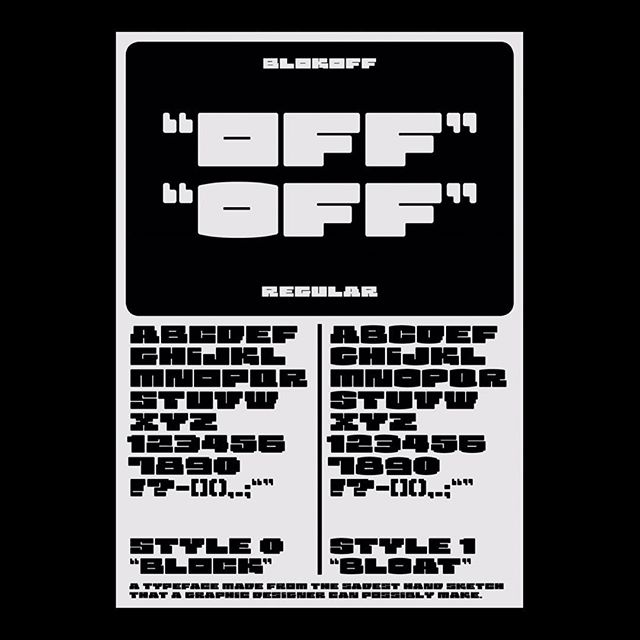 """""""BLOKOFF"""" OR """"BLOCK-OFF"""" 🤔 . . #wip #typography #typeface #typedesign #graphicdesign #poster #sick #style #graphic"""