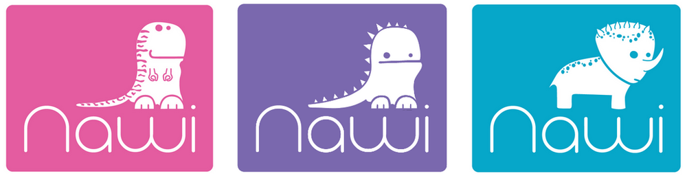NAWI dinos logos and FAQ page