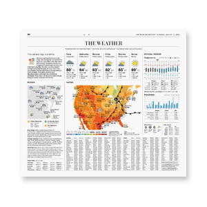NEWSPAPER REDESIGN   The Washington Post  weather page