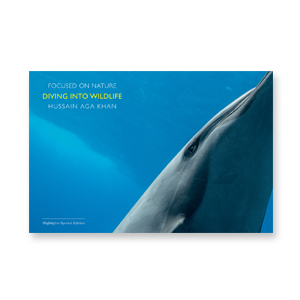 "BOOK  ""Diving Into Wildlife"" photographed by Hussain Aga Khan"