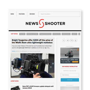 WEBSITE REBRANDING  News Shooter photo technology review site