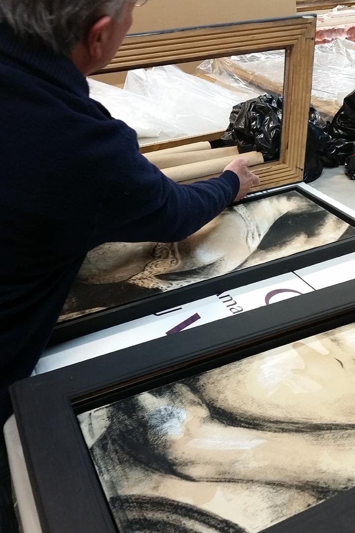 Floating frames at  Gold Leaf Studios  in Washington, DC. ©2016 The Femme Project