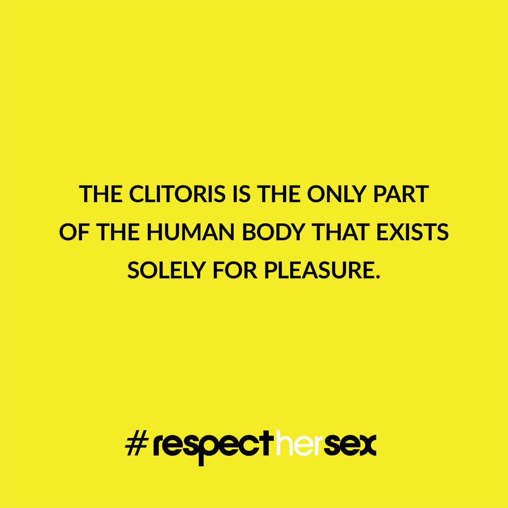 FACT 3: The clitoris is the only part of the human body that exists solely for pleasure.   Source