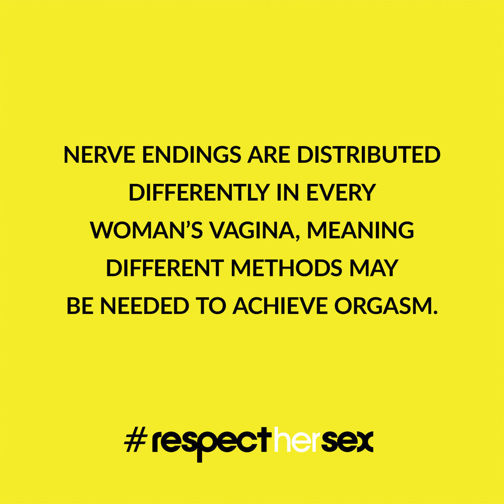 FACT 7: Nerve endings are distributed differently in every woman's vagina, meaning different methods may be needed to achieve orgasm.   Source