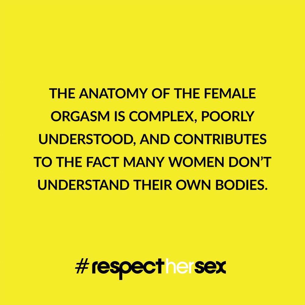 FACT 17: The anatomy of the female orgasm is complex, poorly understood, and contributes to the fact many women don't understand their own bodies.   Source
