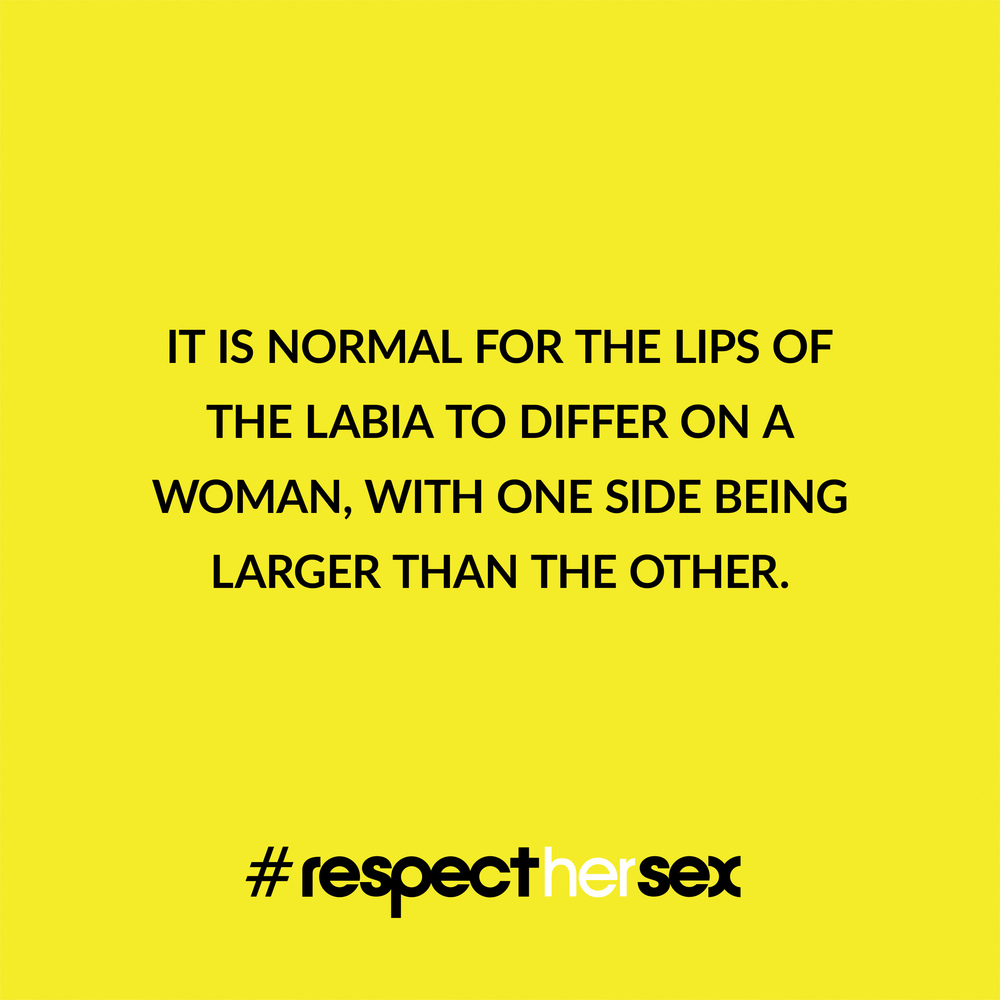 FACT 23: It is normal for the lips of the labia to differ on a woman, with one side being larger than the other.   Source