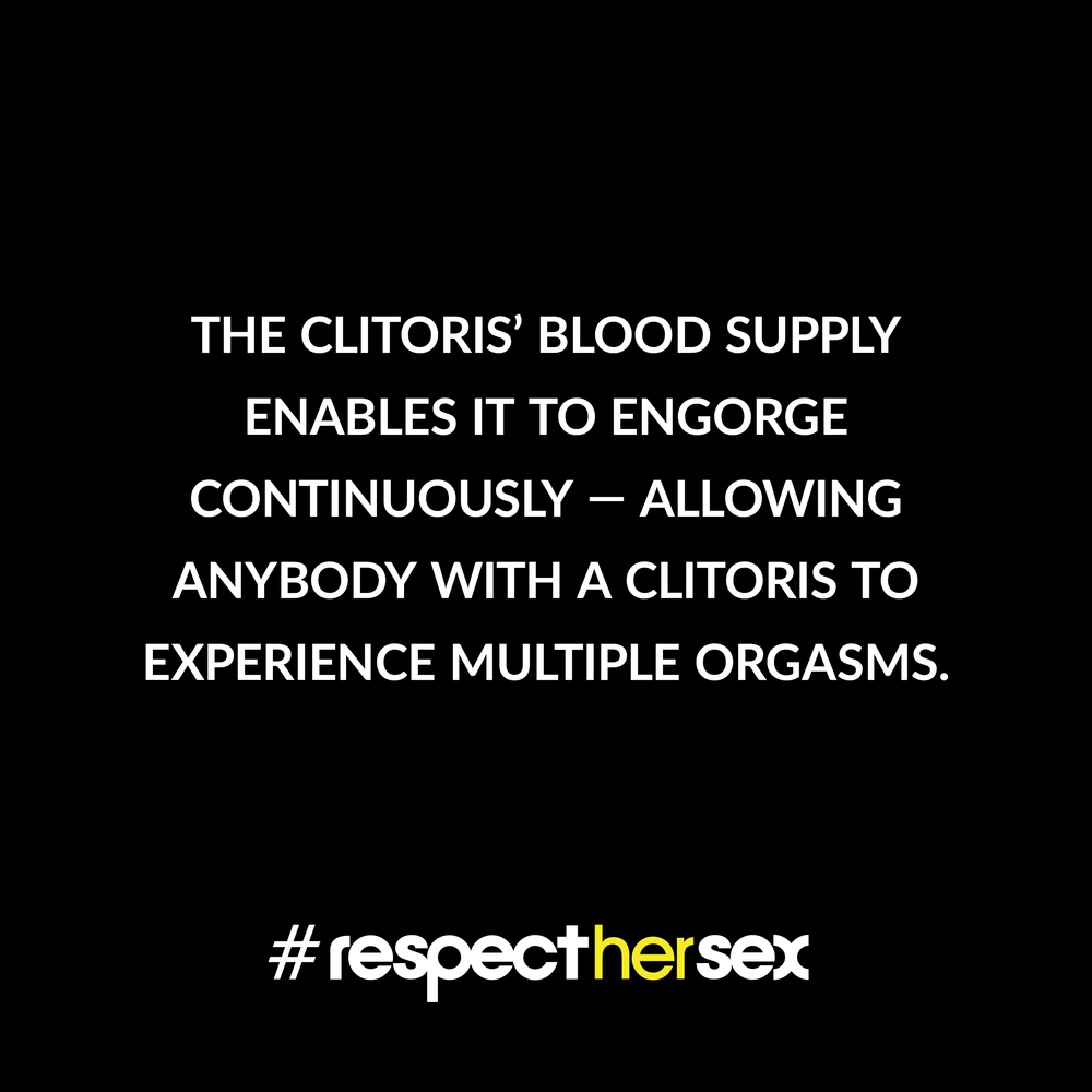 FACT 30: The clitoris' blood supply enables it to engorge continuously — allowing anybody with a clitoris to experience multiple orgasms.   Source