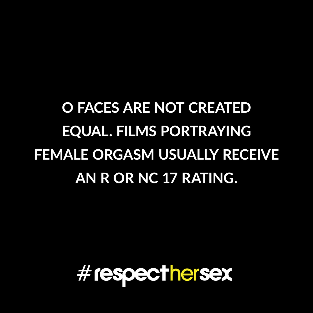 FACT 40: O faces are not created equal. Films portraying female orgasm usually receive an R or NC 17 rating.   Source