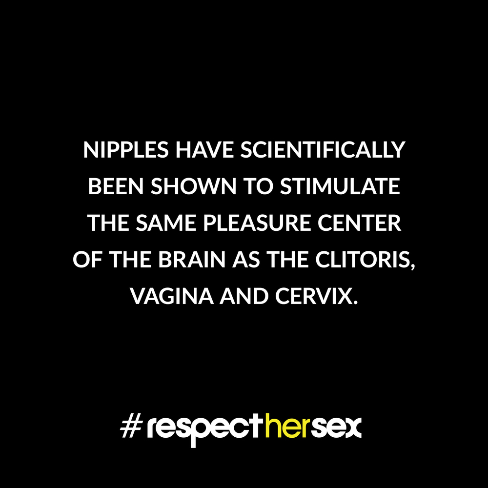 FACT 48: Nipples have scientifically been shown to stimulate the same pleasure center of the brain as the clitoris, vagina and cervix.   Source