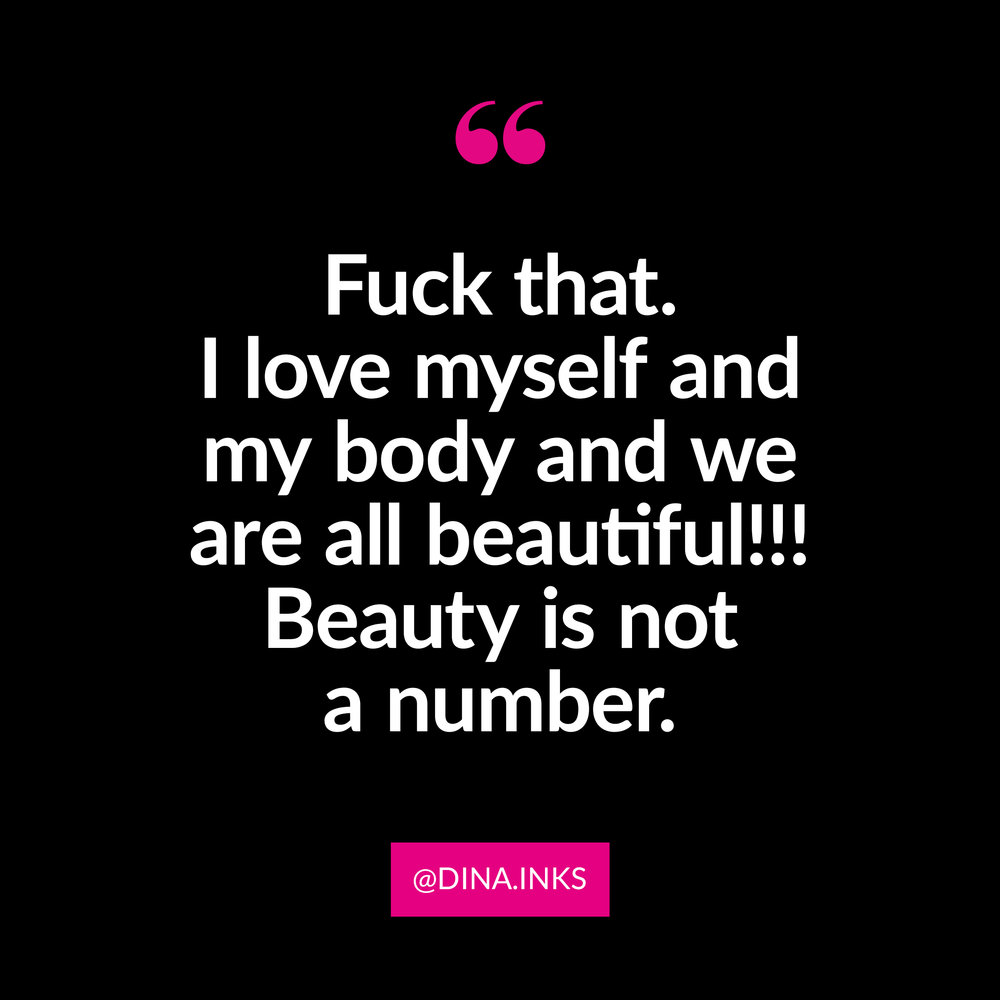 "☆ Submission via  @dina.inks  ☆   Fuck beauty standards - according to them - I ""weigh too much,"" ""my tits are too small,"" and certainly don't fit into the standards! Fuck that. I love myself and my body and we are all beautiful!!! Beauty is not a number. My measurements: Bust: 34 • Waist: 32 • Hips: 39 • Weight: 157 • Size: 10"