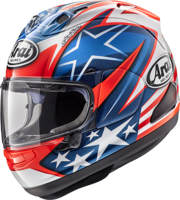 Arai full faced race helmet