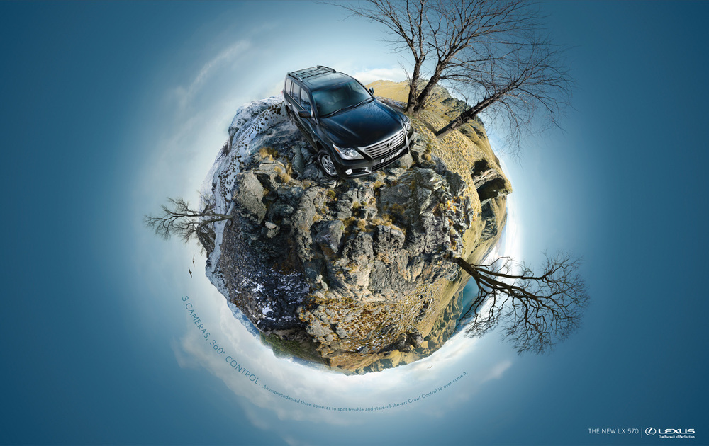 A recent Lexus ad employing the 360 degree photography trend.