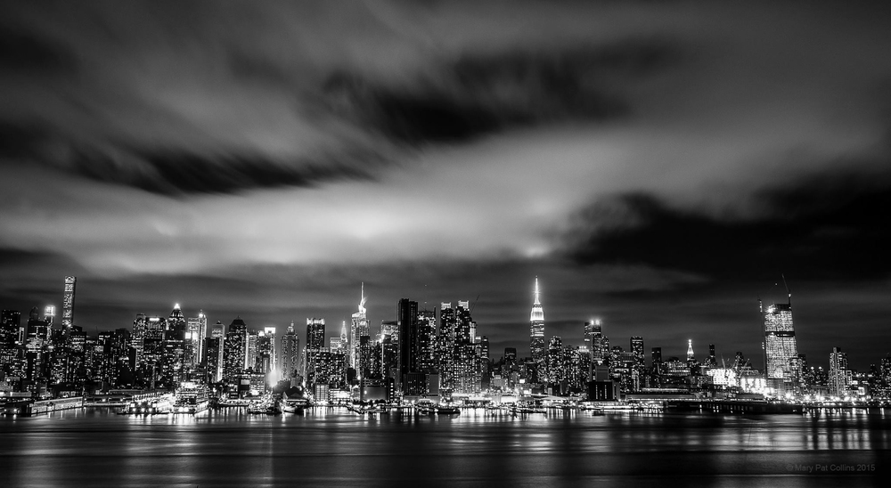 By M.P. Collins, View of New York City taken from Weehawken, NJ.