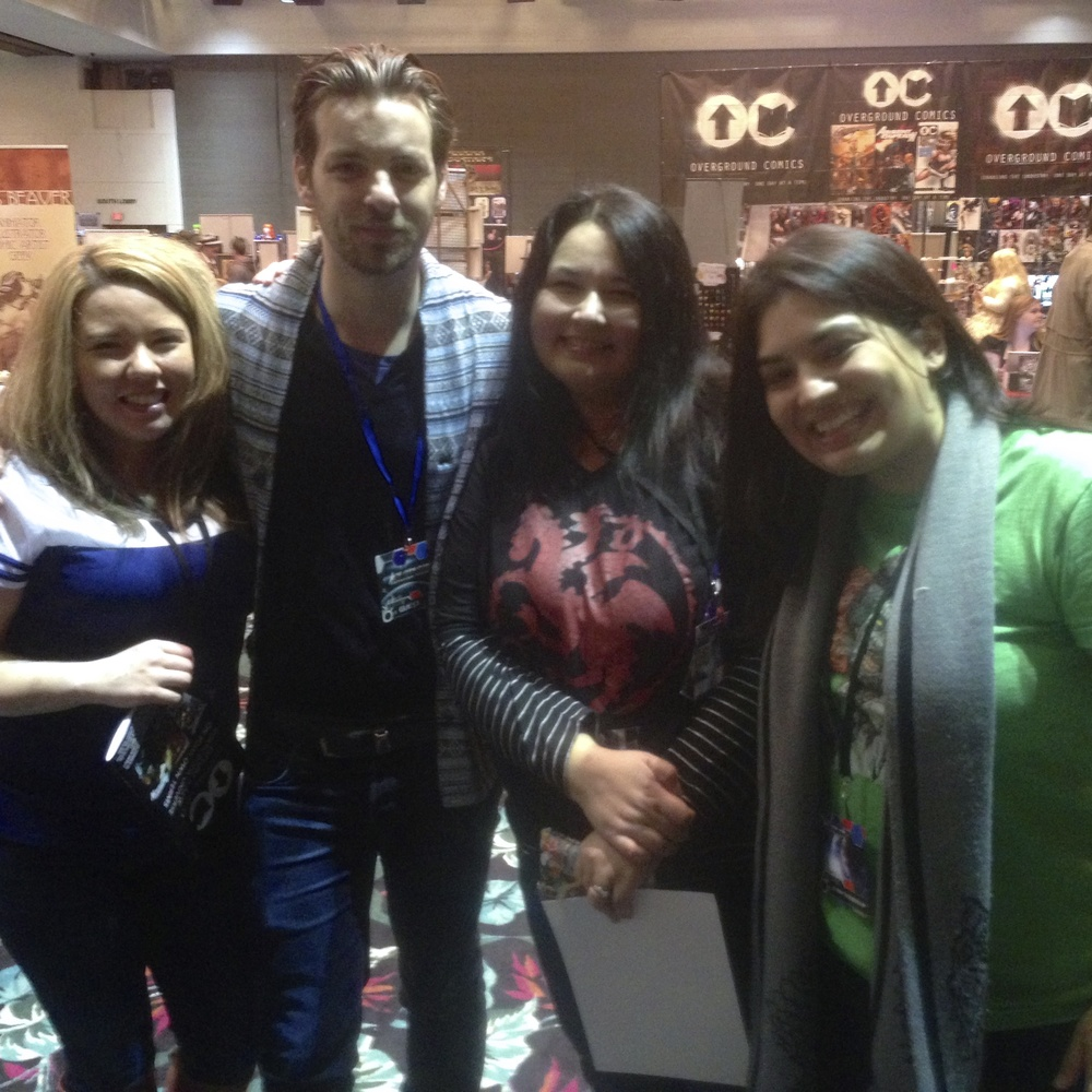 Us with Gethin Anthony (King Renly Baratheon).