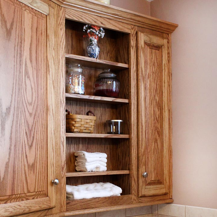 Custom Designed Built in Bathroom Cabinet