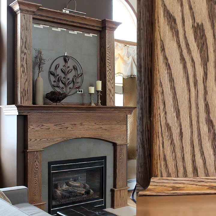 Custom Designed Double-tiered Fireplace Mantel