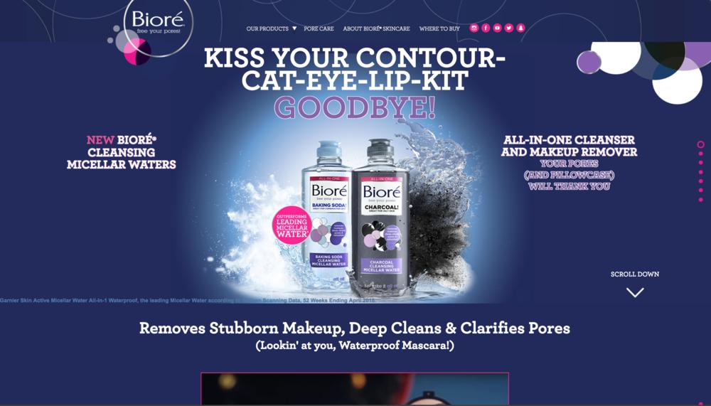 Biore Homepage