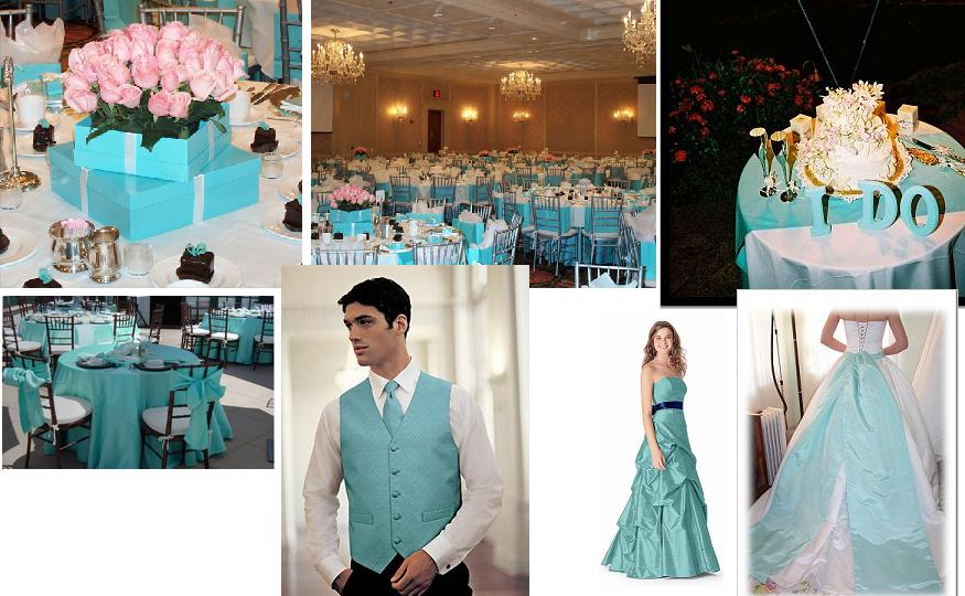 Tiffany Style Themed Wedding