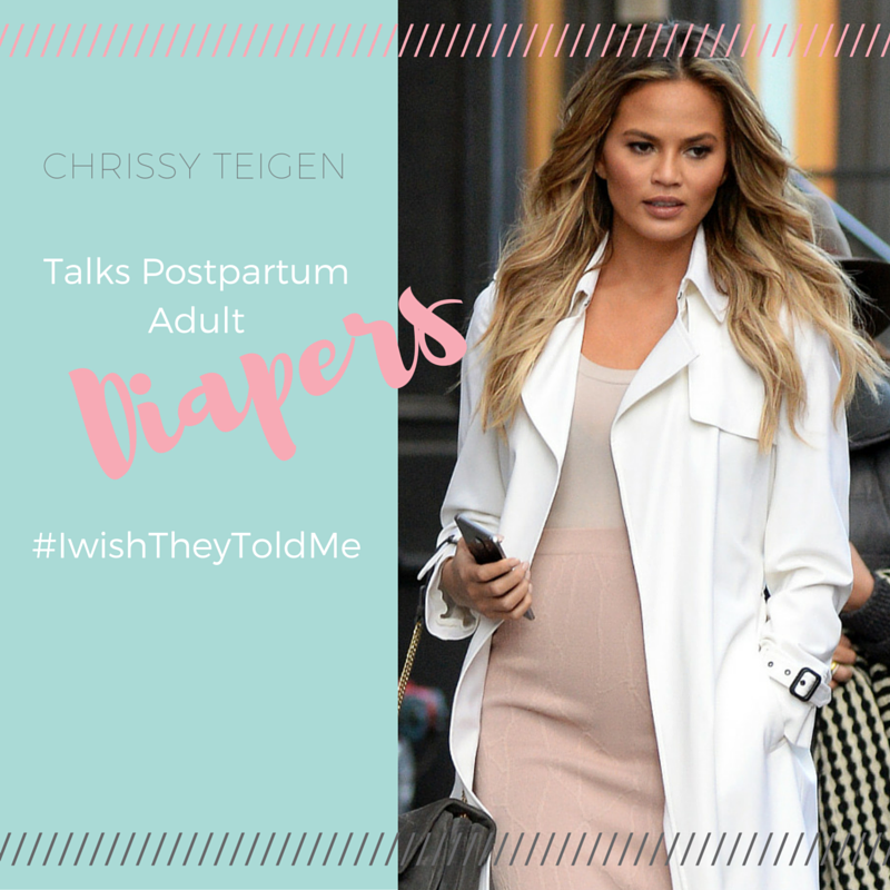 Chrissy Teigen on Postpartum incontenince by Nicole Vascianna