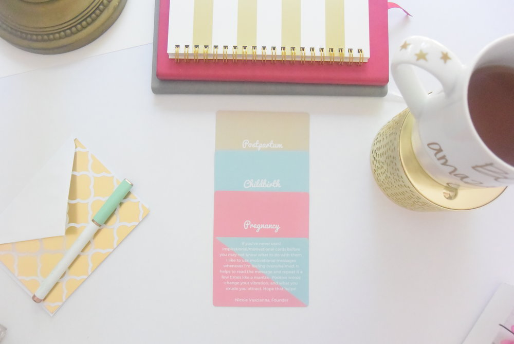 The ONLY inspirational card decks for expecting, childbirth, & postpartum moms.