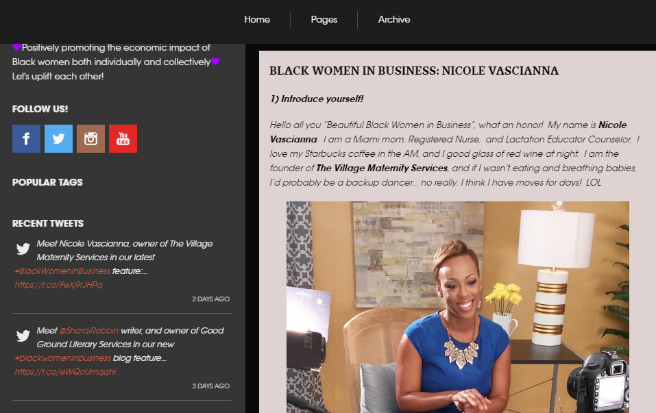 Black Women in Business Blog Feature