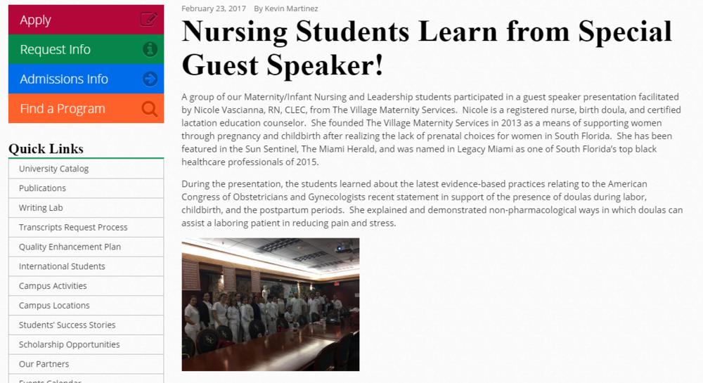 FNU Guest Speaker