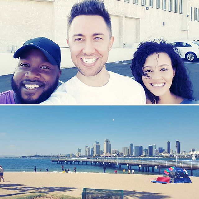 Fun day with these two in San Diego. Thanks for showing us around Cullen! Next stop, Los Angeles.  #partofmetour #sandiego #california