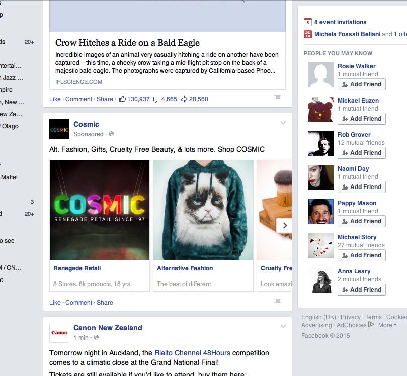 Cosmic Facebook