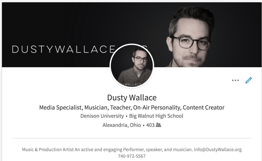 LinkedIn Profile - https://www.linkedin.com/in/DustyKWallace/