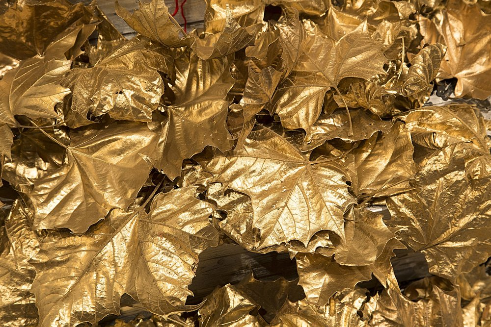 Gold Leaves Detail II