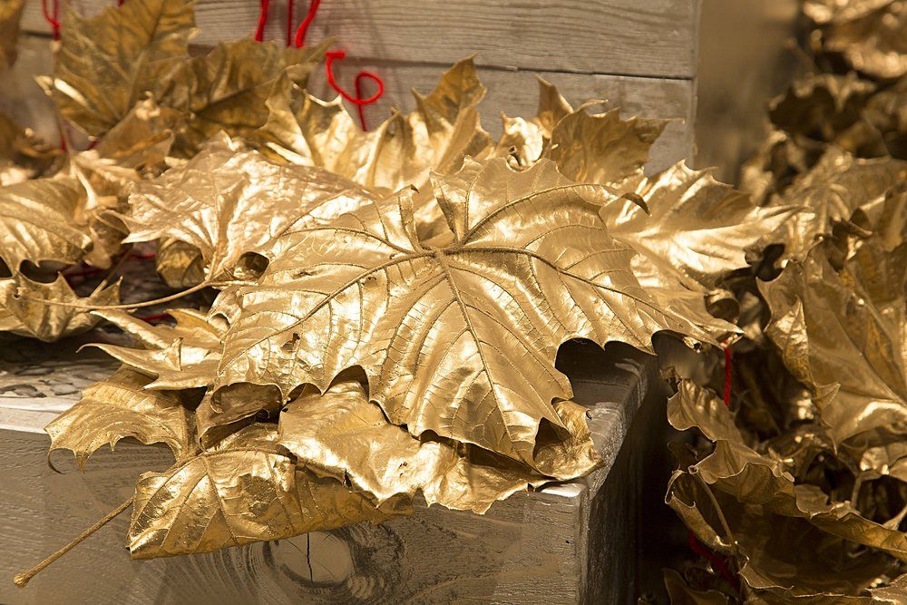 Gold Leaves Detail III