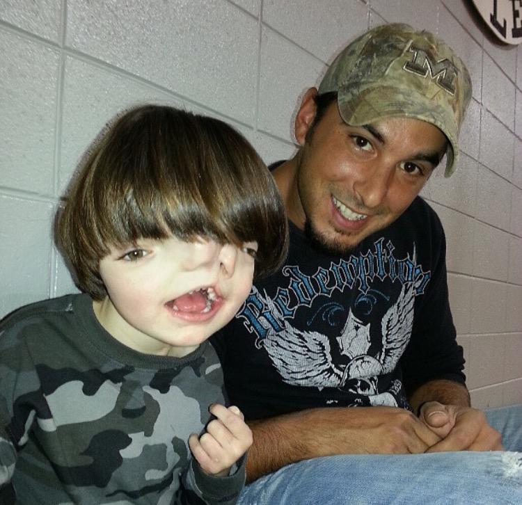 Tres and his dad, Josh.