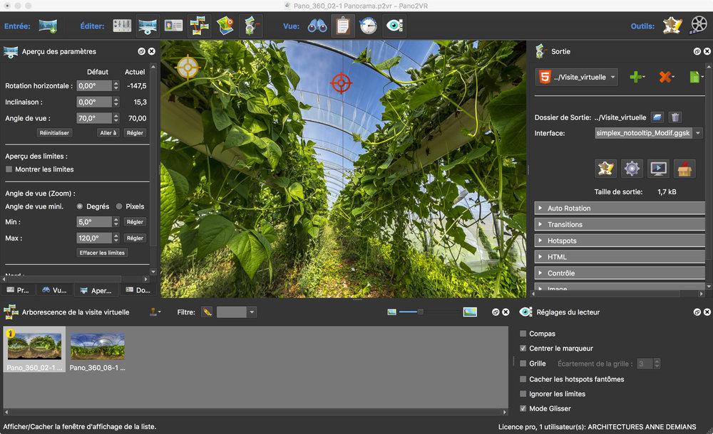 Ici, une visite à deux panoramique avec Pano2vr de Garden Gnome Software
